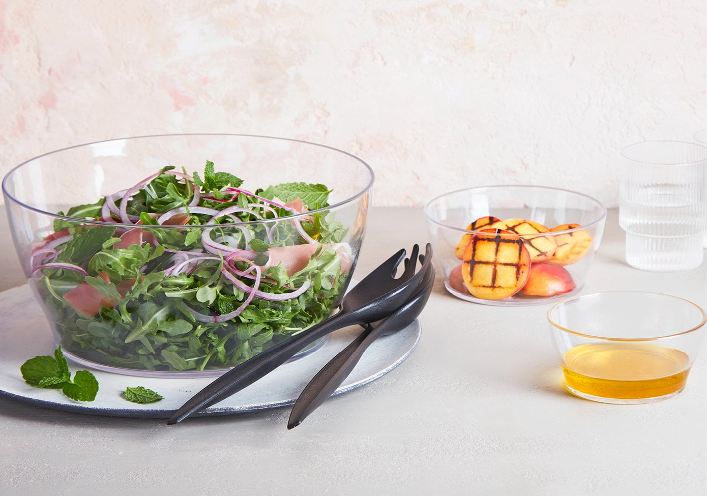 Peach and Rocket Summer Salad